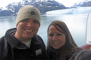 Photo of Zach & Monica at Glacier Bay